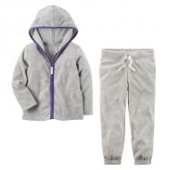 Флисовый комплект Carter's Gray purple