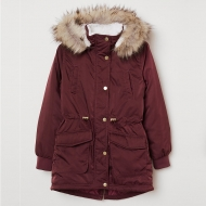 Куртка парка H&M Dark Red